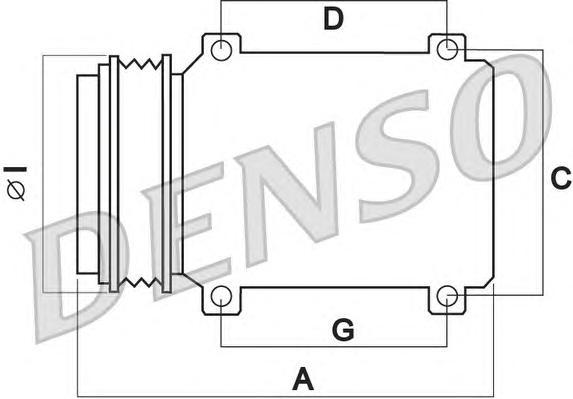 DCP45004 Компрессор кондиционера MITSUBISHI PAJERO 3.2 TD 07-