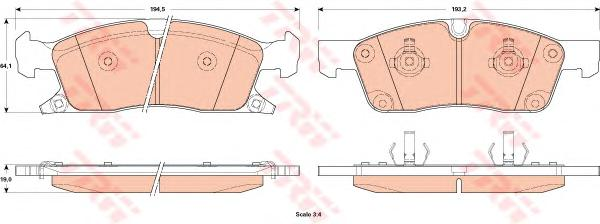 GDB4603 Колодки тормозные JEEP GRAND CHEROKEE IV 10- передние