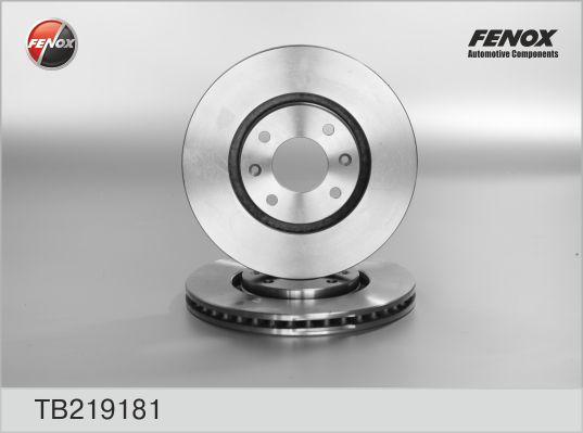 TB219181 Диск тормозной CITROEN BERLINGO +ESP/C5/C4/PEUGEOT 207 05/307 05 передний