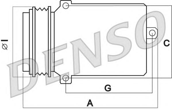 DCP05014 Компрессор кондиционера BMW E38/39/46/X3 (E83)