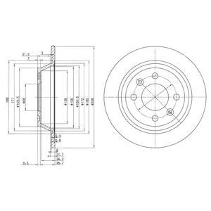 BG2420 Диск тормозной SAAB 900 80-94/9000 89-98 задний D=258мм.