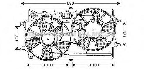 fd7507 Вентилятор радиатора FORD FOCUS 1.8TD M/T -04