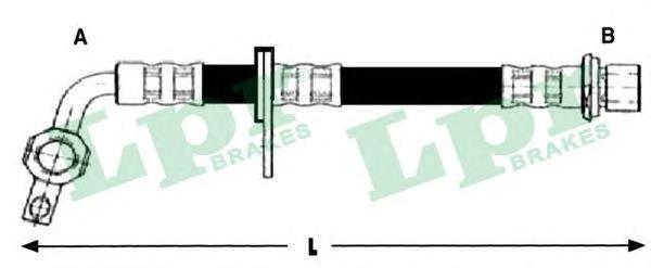 6t48255 Шланг тормозной TOYOTA LAND CRUISER (J100) 98- передний левый