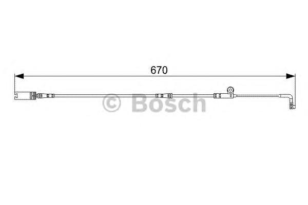 1987473002 Датчик износа торм.колодок BMW E60/63 пер.