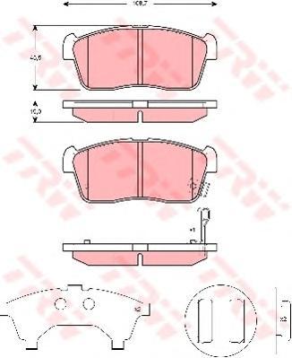 GDB3276 Колодки тормозные SUZUKI IGNIS 00/ALTO 02- с индикат.износа передние
