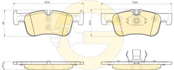 6119352 Колодки тормозные BMW 1 F20/F21 114-118 10- передние
