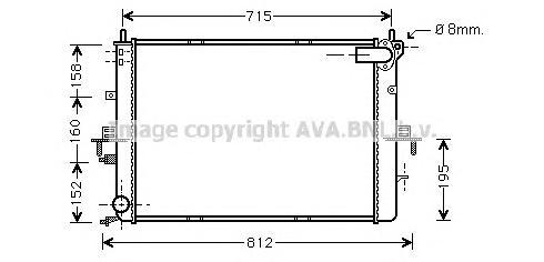 AU2152 Радиатор ROVER 75 1.8-2.5 99-