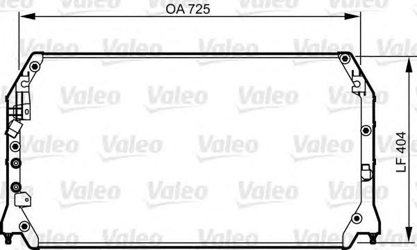 814283 Конденсор кондиционера TOYOTA Camry 2.2.3.0 &gt