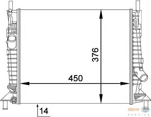 8MK376764271 Радиатор FORD FOCUS 1.4/1.6 04-