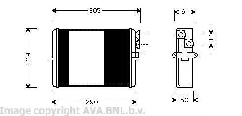 VOA6110 Радиатор отопителя VOLVO S60/S80/V70/XC70/XC90 99-