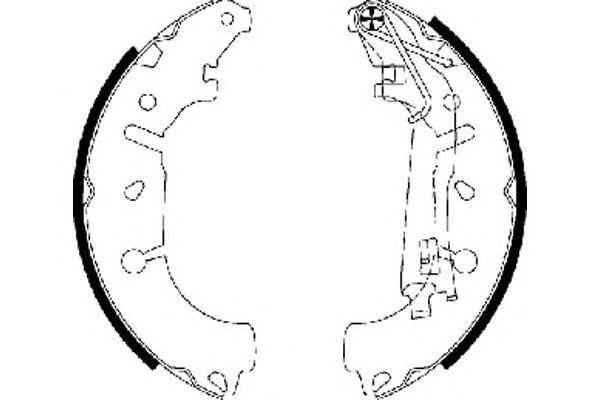 8DB355002971 Колодки торм.бар.FIAT GRANDE PUNTO 1.3D/1.4 05-/OPEL CORSA D 06- (228x40)