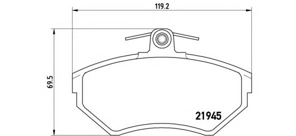P85042 Колодки тормозные AUDI A4 1.6/1.8/1.9D 9500/VOLKSWAGEN PASSAT 9700 передние