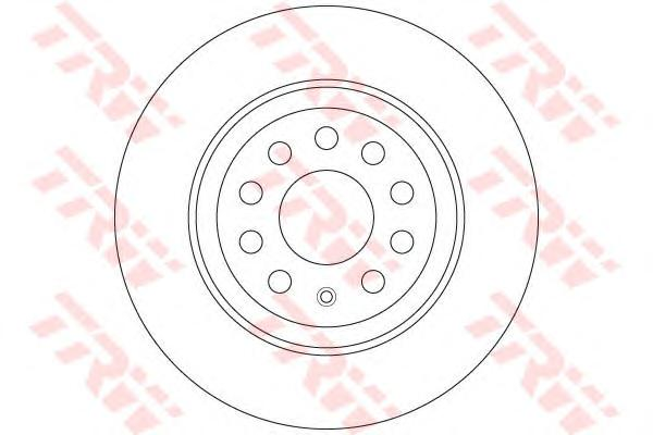 DF6504 Диск тормозной VW GOLF VII 12- задний D=300мм.