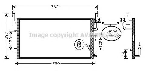 HY5135 Радиатор кондиционера HYUNDAI: SONATA IV (EU4) 2.0/2.0 CRDi Dynamic/2.0 VVTi GLS/2.2 CRDi GLS/2.7 V6 01 - 04 , XG 25 98 -