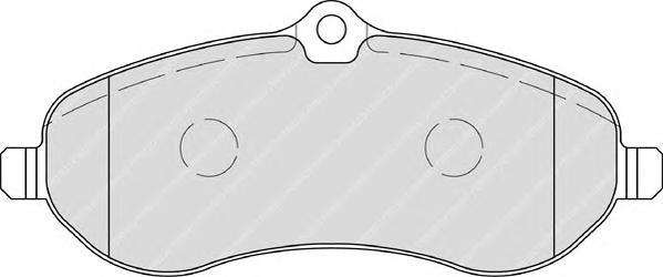FVR1771 Колодки тормозные CITROEN JUMPY/FIAT SCUDO/PEUGEOT EXPERT 07- передние