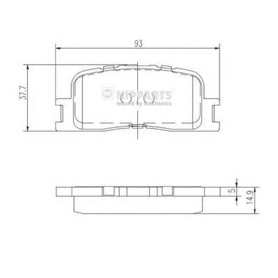 J3612024 Колодки тормозные TOYOTA CAMRY (_V30_) 2.4/3.0 0104/HIGHLANDER 0007 задние