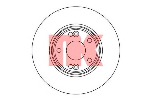 203930 Диск тормозной RENAULT LAGUNA II 01-07 передний вент.