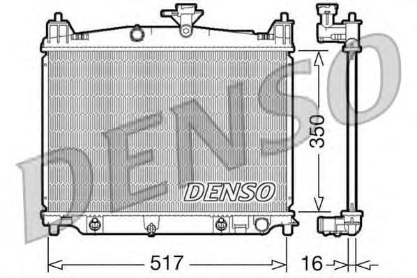 DRM44019 Радиатор системы охлаждения MAZDA: 2 1.3 / 1.5