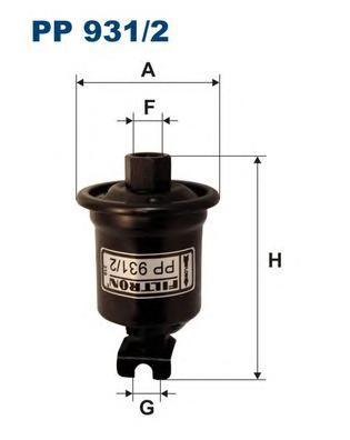 PP9312 Фильтр топливный TOYOTA RAV4 94-00
