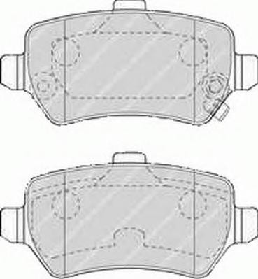 FDB1521 Колодки тормозные OPEL ASTRA G/H/ZAFIRA A задние