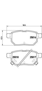 P83133 К-т торм. колодок Re LEX CT 10-, TO Corolla 13-