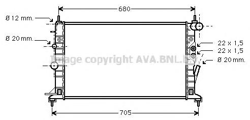 OLA2359 Радиатор OPEL VECTRA B 2.5/2.6 95-03