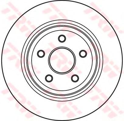 DF4979S Диск тормозной JEEP GRAND CHEROKEE II 4.7 04-/III 05- задний D=350мм.