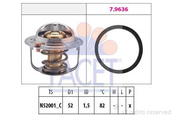 78679 Термостат (с прокладкой) FIAT: SEDICI 1.6 16V 4x4 06-  SUZUKI: AERIO (ER) 1.3/1.6/1.6 4WD 01-, AERIO универсал (ER) 1.3/1.