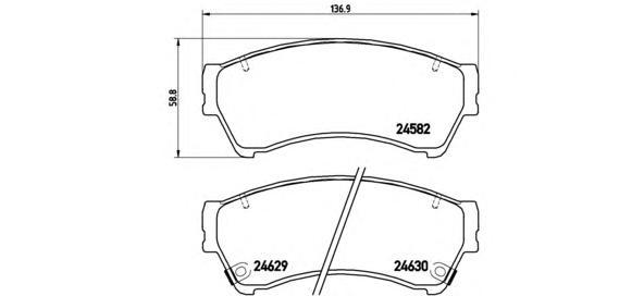 P49039 Колодки тормозные MAZDA 6 1.8-2.5 08- передние