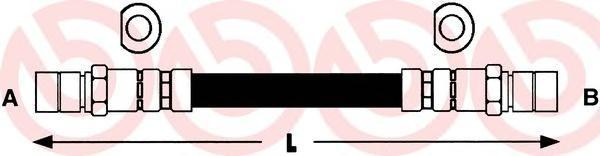 T59002 Шланг тормозной CHEVROLET LANOS/OPEL CORSA/OMEGA/VECTRA задний
