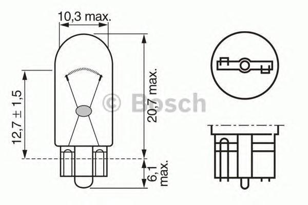 1987302516 Лампа Trucklight 2 W 24 V W2,1x9,5d
