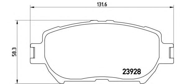 P83062 Колодки тормозные TOYOTA CAMRY (_V30_) 2.4/3.0 0104 передние