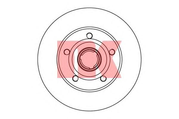 204757 Диск тормозной задний / AUDI A-4 1.6-2.8 (10.0-245) 94~