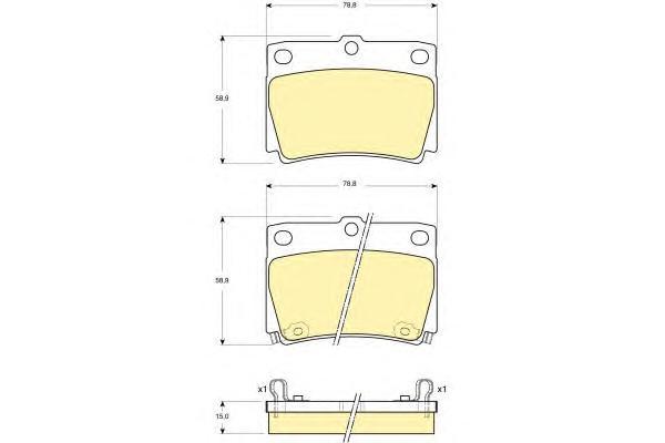 6132399 Колодки тормозные MITSUBISHI PAJERO SPORT/MONTERO SPORT 9809 2.5D/3.0 задние