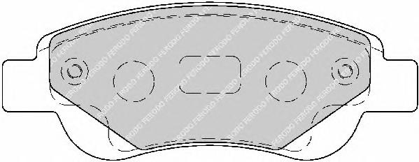 FDB1790 Колодки тормозные CITROEN C1/PEUGEOT 107/TOYOTA AYGO 1.0/1.4D 05- передние