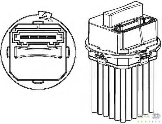 5HL351321321 Резистор вентилятора охаждения MERCEDES-BENZ SPRINTER/VW CRAFTER 06-
