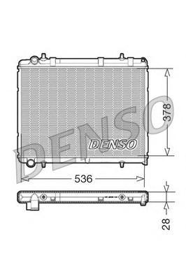 DRM21035 Радиатор системы охлаждения CITROEN: C4 (LC) 1.6 HDi/2.0 16V 04 - , C4 купе (LA) 1.6 HDi 04 - , XSARA PICASSO (N68) 1.6