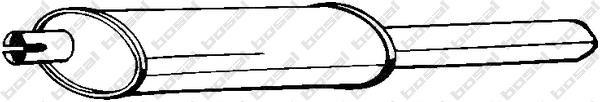 185449 Глушитель OPEL ASTRA F 1.8 93-98