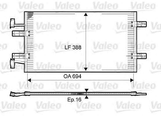 814171 Радиатор кондиционера RENAULT: TRAFIC II c бортовой платформой/ходовая часть (EL) 2.5 dCi 145 01 - , TRAFIC II автобус (J