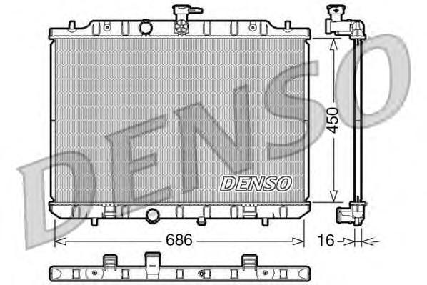 DRM46009 Радиатор системы охлаждения NISSAN: X-TRAIL 2.0 / 2.0 FWD