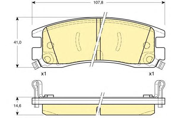 6113099 Колодки тормозные OPEL SINTRA 96-99/CADILLAC SEVILLE 97- задние