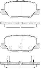 4605B071 Колодки тормозные задние ASX 1.6/1.8/2.0 к-тёб/кр