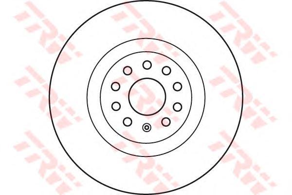 DF6133S Диск тормозной VW PASSAT 08-/GOLF VII передний 9 отв. вент.D=340мм.