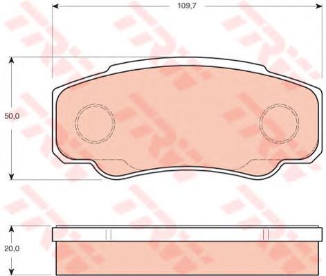 GDB3441 Колодки тормозные NISSAN CABSTAR 06-/RENAULT MAXITY 07- задние