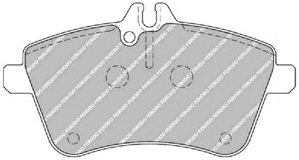 FDB1750 Колодки тормозные MERCEDES A-CLASS W169/B-CLASS W245 2.0 передние