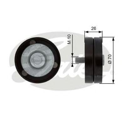 T36363 Ролик промежуточный поликлинового ремня Chrysler Voyager 2.5CRD/2.8CRD 01