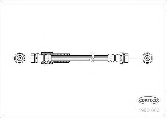19031686 Тормозной шланг задний 320mm