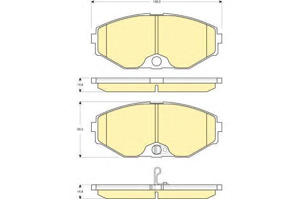 6132739 Колодки тормозные NISSAN MAXIMA QX (A33) 2.0-3.0 00- передние