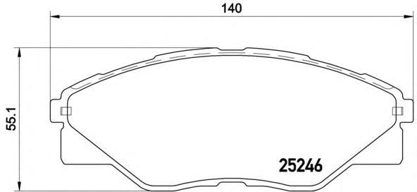 P83137 Колодки тормозные TOYOTA HILUX 08- передние
