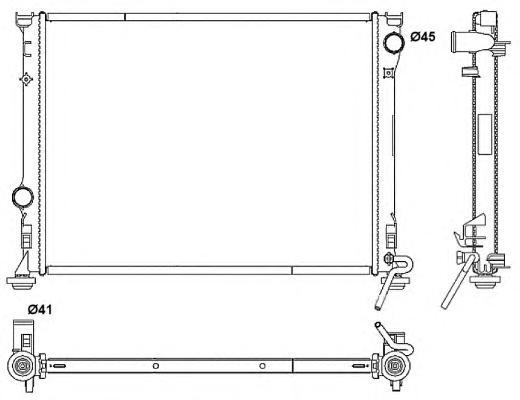 53042 Радиатор CHRI 300C -11